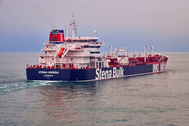 Den svenskejede olietanker Stena Impero, der er indregistreret i London, Storbritannien, er tilsyneladende blevet beslaglagt af Irans Revolutionsgarde. (Arkivfoto) Handout./Reuters