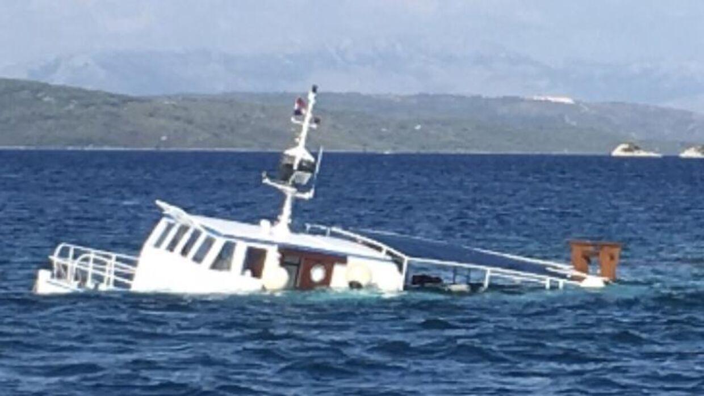 Her ses båden, efter den sank.