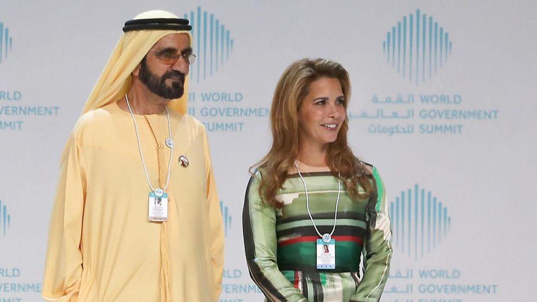 Sheik Mohammed bin Rashid al-Maktoum og prinsesse Haya ses her til et arrangement sidste år. Nu vil prinsessen skilles.