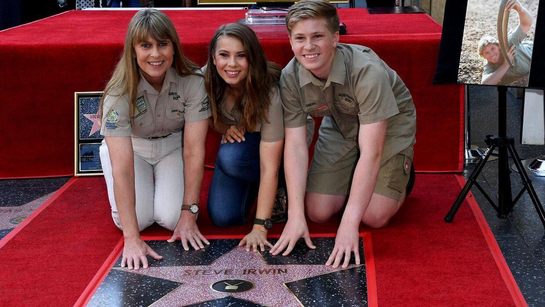 I 2018 - 12 år efter sin død - fik Steve Irwin en stjerne på Hollywoods Walk of Fame. Her var familien med til indvielsen.