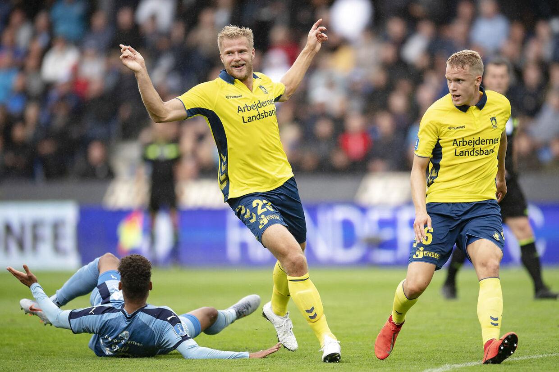 Paulus Arajuuri begik det frispark, der førte til Randers' 2-2-scoring.