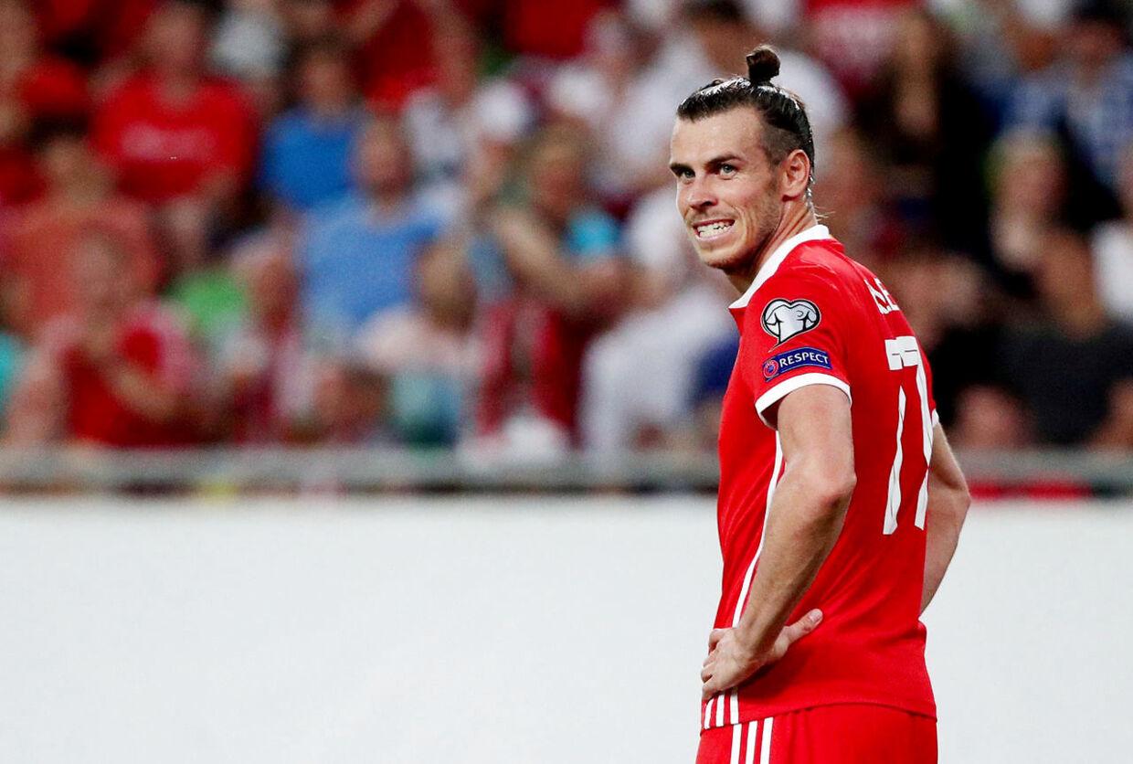 Gareth Bale for det walisiske landshold - hans formentlig bedste mulighed for spilletid, hvis han fortsat er Real Madrid-spiller, når trasnfervinduet lukker.