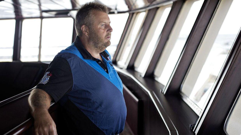 Skibsejeren Henning Kjeldsen på Gitte Henning. Båden står for 10 % af al den fangst, der bliver afleveret i Danmark
