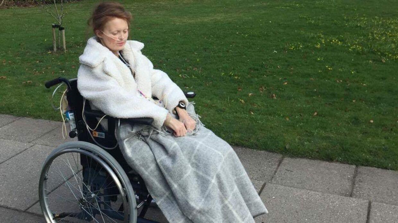 Cecilia Petersen har haft svært ved at trække vejret normalt det meste af sit liv. Foto: Privat.