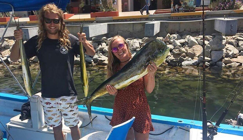 Dette billede er fra en fisketur af de to unge mennesker Lucas Fowler og Chynna Deese.