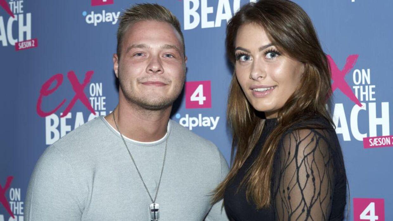 Amanda og Mikkel fra 'Ex on the Beach'.