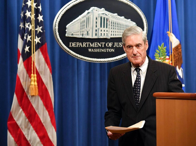 Fra talerstolen i Forsvarsministeriet svor Robert Mueller 29. maj, at han aldrig ville tale om sin undersøgelse igen. Onsdag skal Mueller trods sine løfter om det modsatte krydsforhøres i den amerikanske kongres.