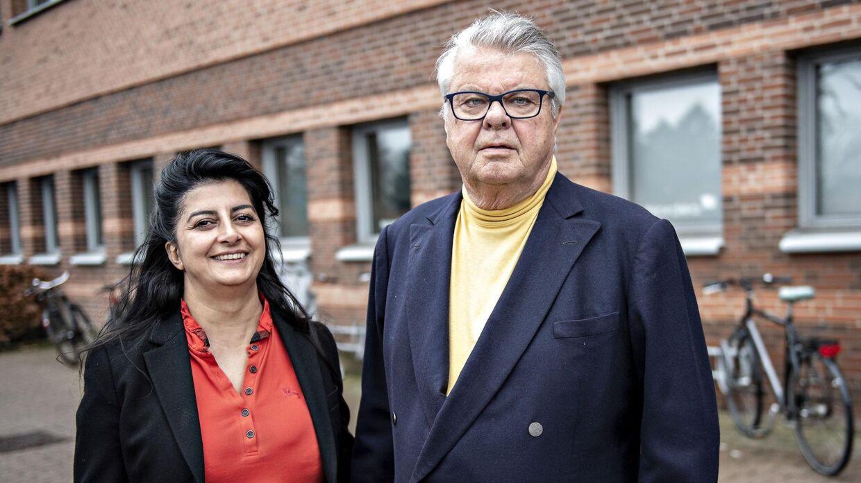 Arkivfoto. Her ses rigmanden Christian Kjær sammen med konen Susan Astani-Kjær ved retten, da Kjær blev dømt for vold mod tjenestemand i funktion. Rigmanden er for nyligt blevet diagnosticeret med sygdommen Parkinson.