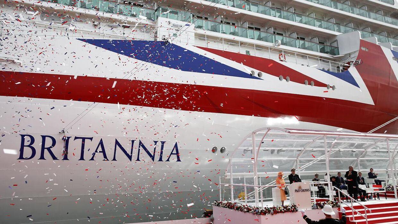 Cruise-skibet Britannia dannede natten til ramme om et masseslagsmål, der mindede om noget fra en western.
