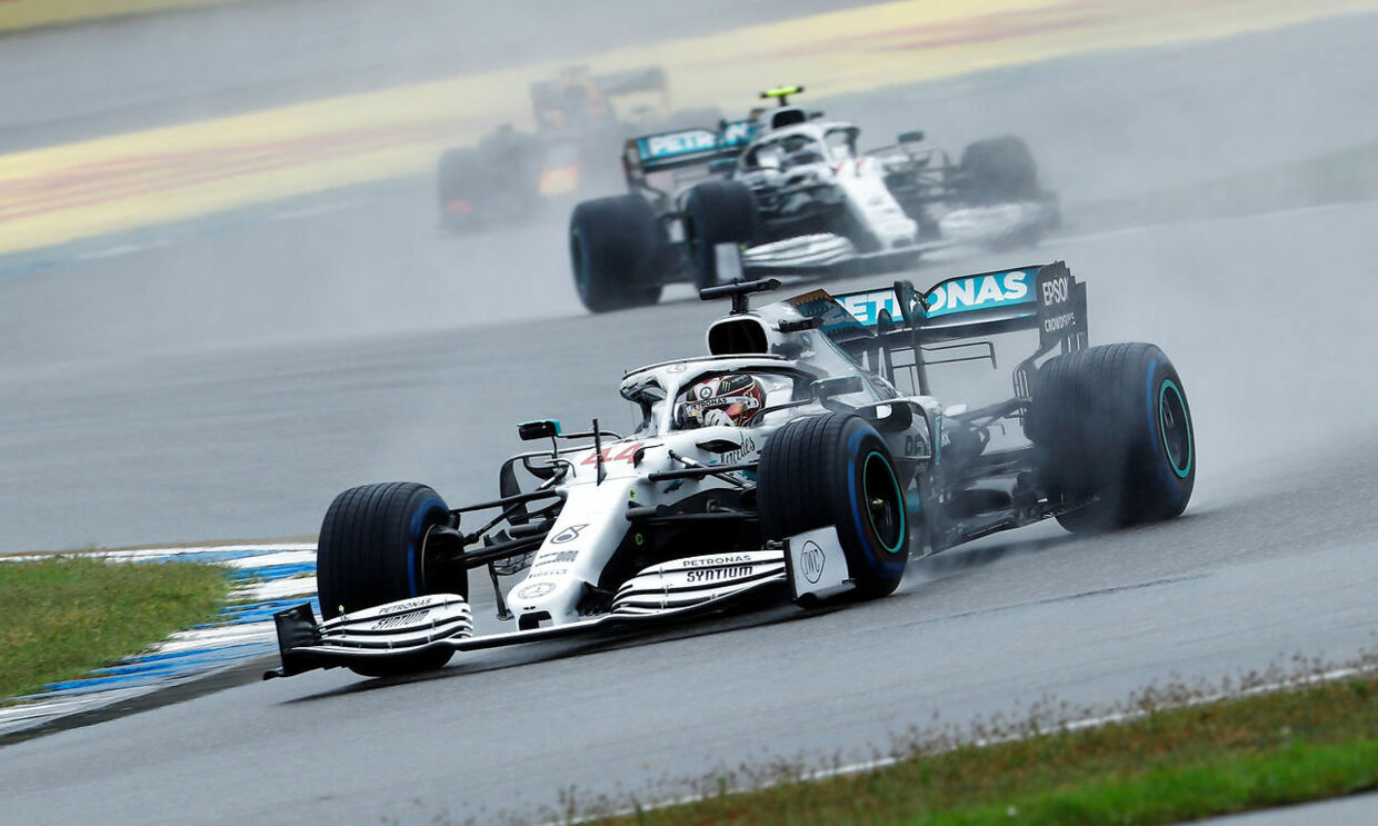 Formula One F1 - German Grand Prix - Hockenheimring, Hockenheim, Germany - July 28, 2019 Mercedes' Lewis Hamilton during the race REUTERS/Ralph Orlowski