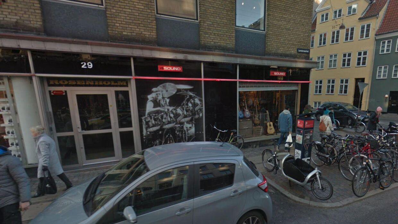 Her ses musikbutikken 4Sound i København.
