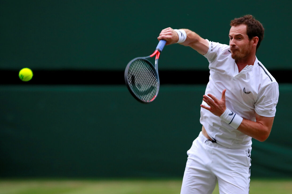 Andy Murray deltog i Wimbledon i både herredouble og mixeddouble. Andrew Couldridge/Reuters