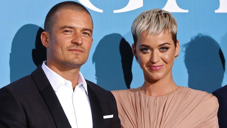 Orlando Bloom og Katy Perry faldt for hinanden ved Golden Globe-festen i 2016.