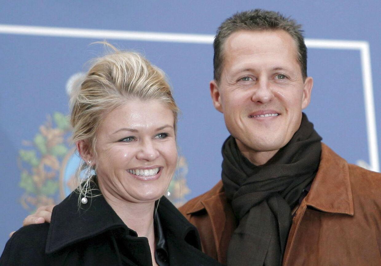 ARKIVFOTO af Michael Schumacher og hans hustru Corinna.