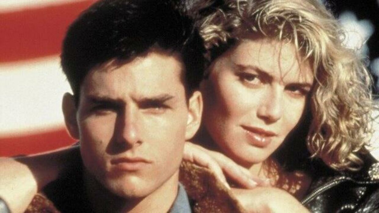 Tom Cruise og Kelly McGillis fra 'Top Gun' 1986.