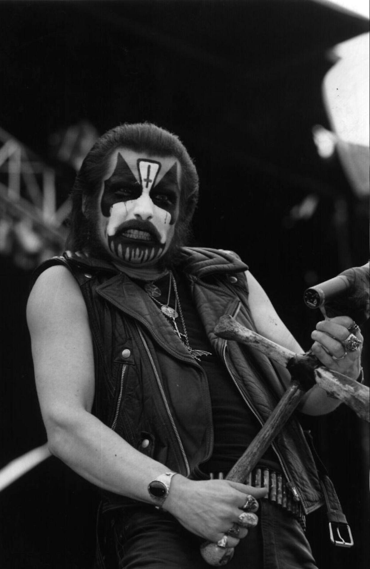 Mercyful Fate er blandt andet kendt for forsangerens vilde makeup under bandets show.