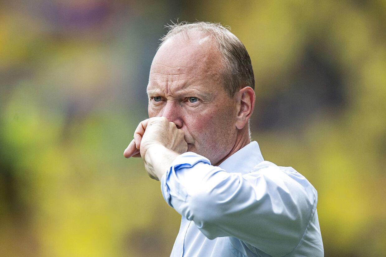Niels Frederiksen, cheftræner Brøndby IF under kampen i 3F Superligaen mellem Brøndby IF og AC Horsens på Brøndby Stadion søndag den 4. august 2019.
