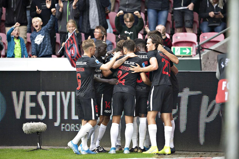 FC Midtjylland kunne juble til sidst.