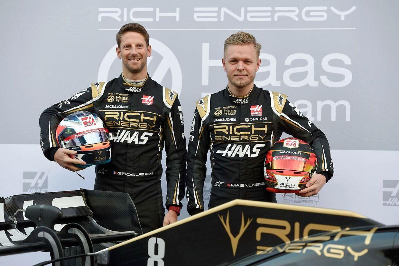 I løbet af sæsonen har der været frustrationer mellem franske Romain Grosjean og Kevin Magnussen.