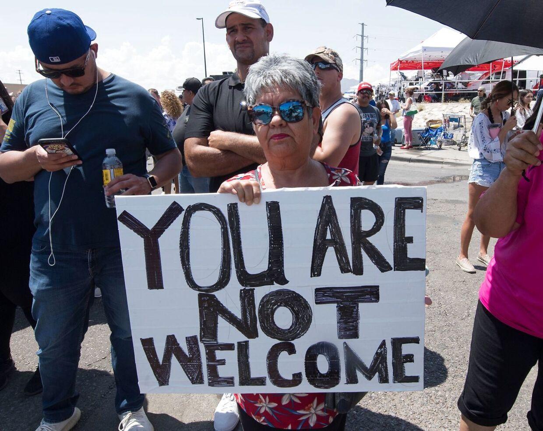 Beskeden til Trump fra borgerne i El Paso er klar: 'du er ikke velkommen'.