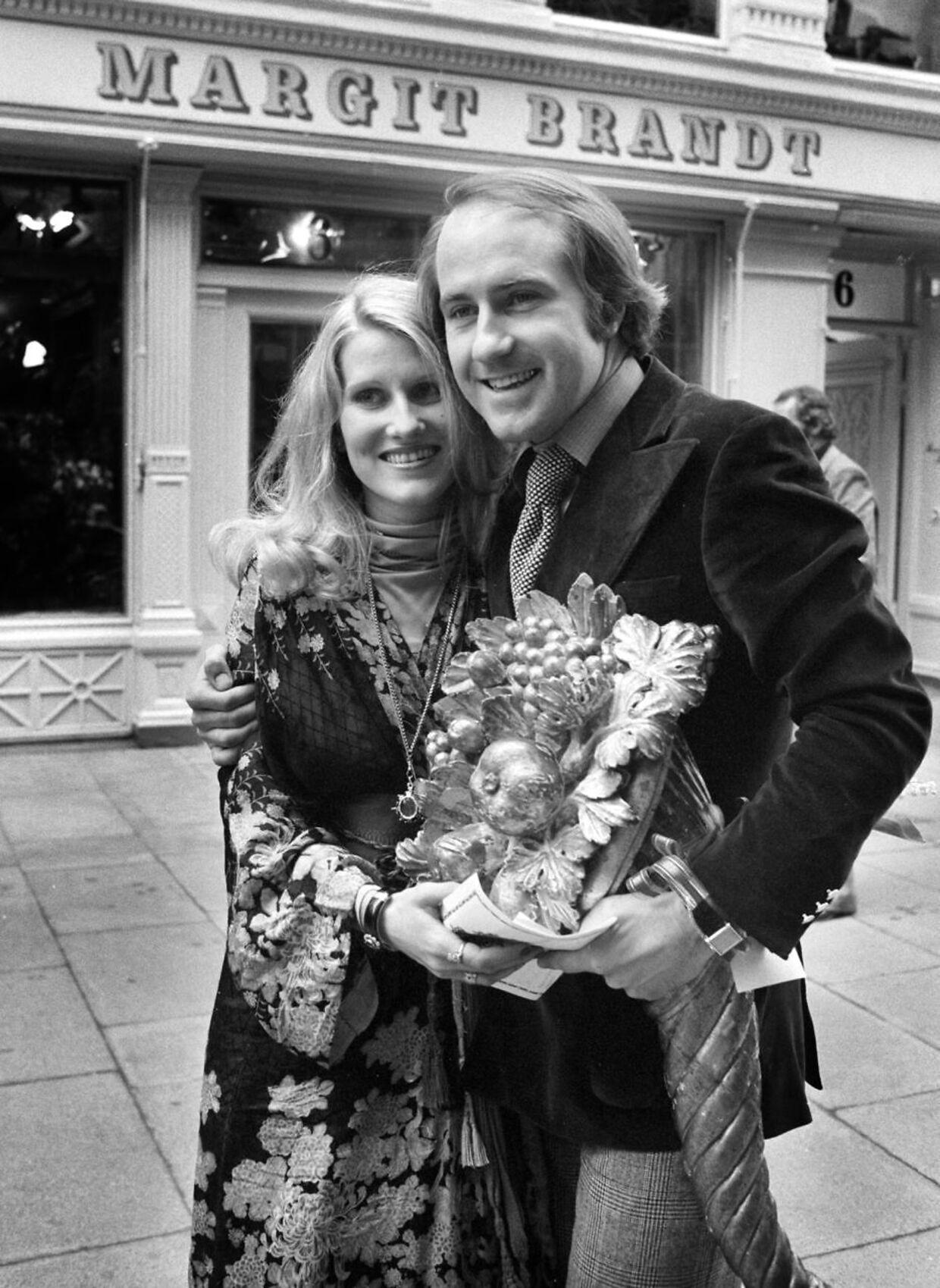 Margit og Erik Brandt i deres unge dage.