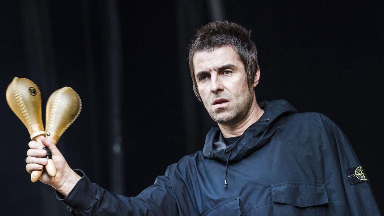 Den altid storsmilende Liam Gallagher på Stjernescenen på Smukfest lørdag den 10 .august 2019.