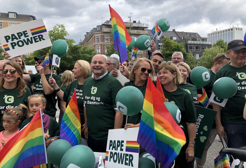 Her kan du se Søren Pape Poulsen under Copenhagen Pride 2018, da han gik i paraden med Det Konservative Folkeparti.