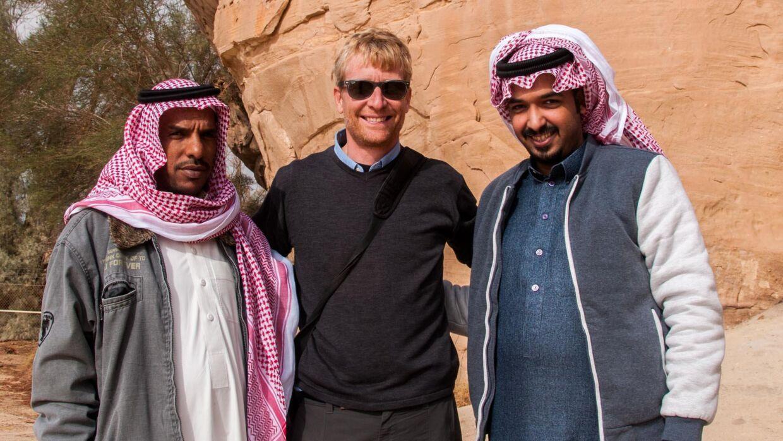 Jakob Øster har besøgt alle verdens lande. Her er han i Saudi Arabien. Foto: Jakob Øster.