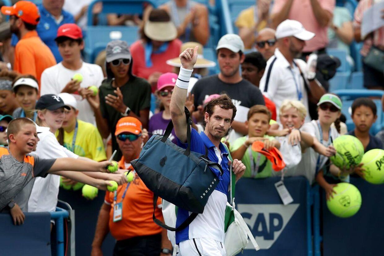 Det blev en kort fornøjelse i Cincinnati for Andy Murray.