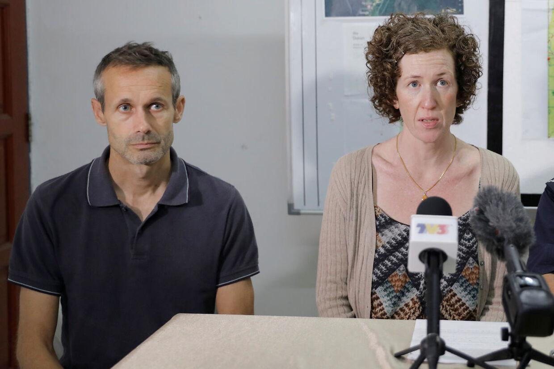 Noras forældre, Sebastien og Meabh Quoirin, talte mandag til pressen og bad om hjælp til at få deres datter hjem i god behold.