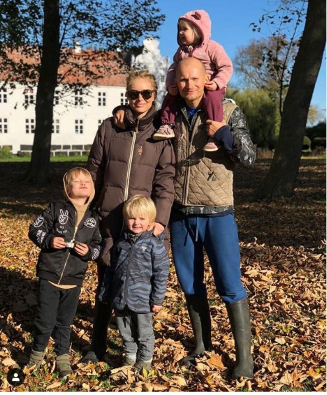 Christian og Alice Stadil har i forvejen tre børn, sønnerne Winston og Hamilton og datteren Harper.