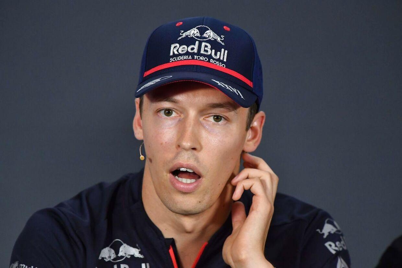 Daniil Kvyat blev ikke forfremmet til Red Bull. Han må nøjes med sit sæde hos Toro Rosso.