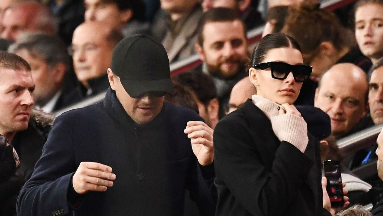 Leonardo DiCaprio og Camilla Morrone spottet til fodboldkamp sammen sidste år.