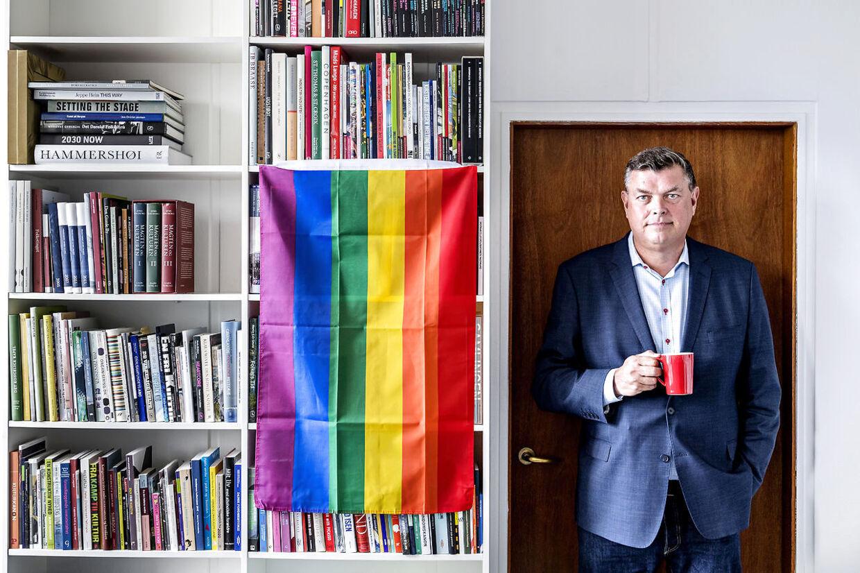 Mogens Jensen (S), minister for fødevarer, fiskeri og ligestilling og minister for nordisk samarbejde på sit kontor.