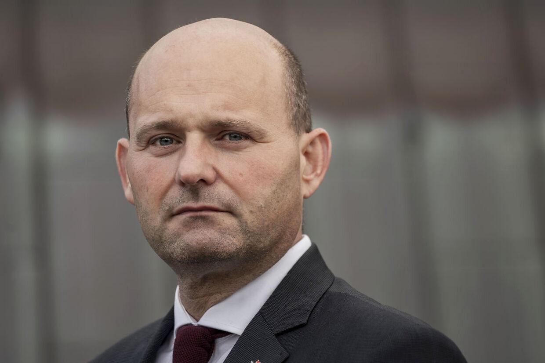 Leder af Det Konservative Folkeparti Søren Pape langer ud efter Lars Løkke. (Arkivfoto)