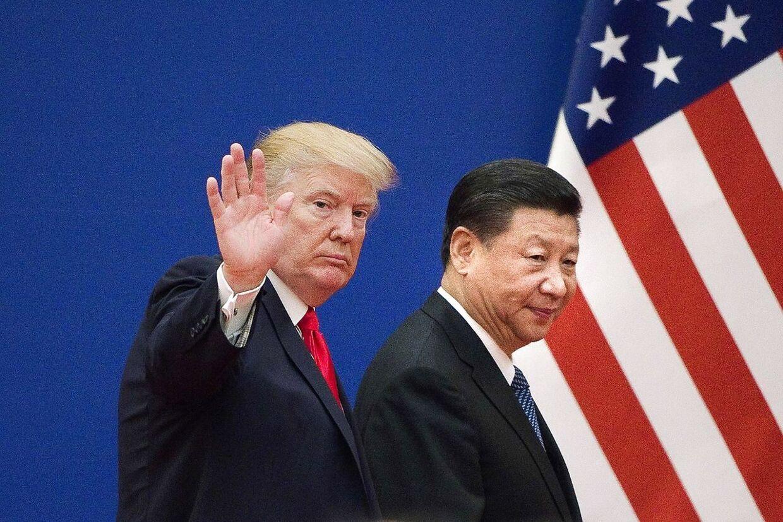 Den amerikanske præsident Donald Trump og hans kinesiske kollega Xi Jinping. (Arkivfoto)