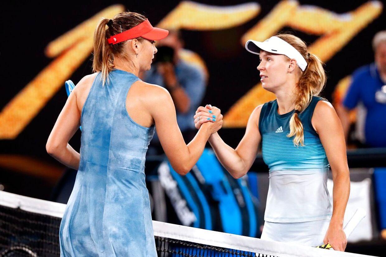 Caroline Wozniacki tabte i januar ved Australian Open til Maria Sharapova.
