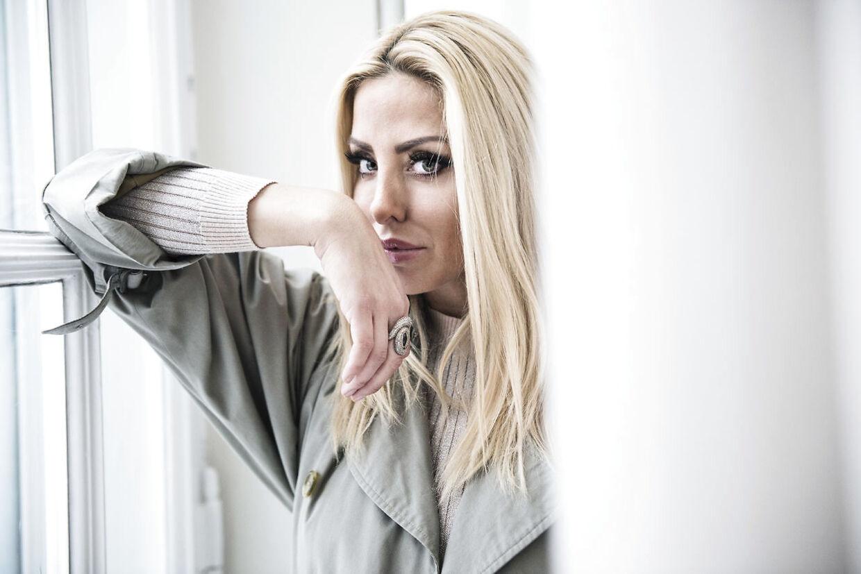 Pressemøde for ny realityserie på TV3. I 'Forsidefruer' følger vi fem kendte kvinder deres hverdag. Her Sarah Louise Christiansen, blogger.