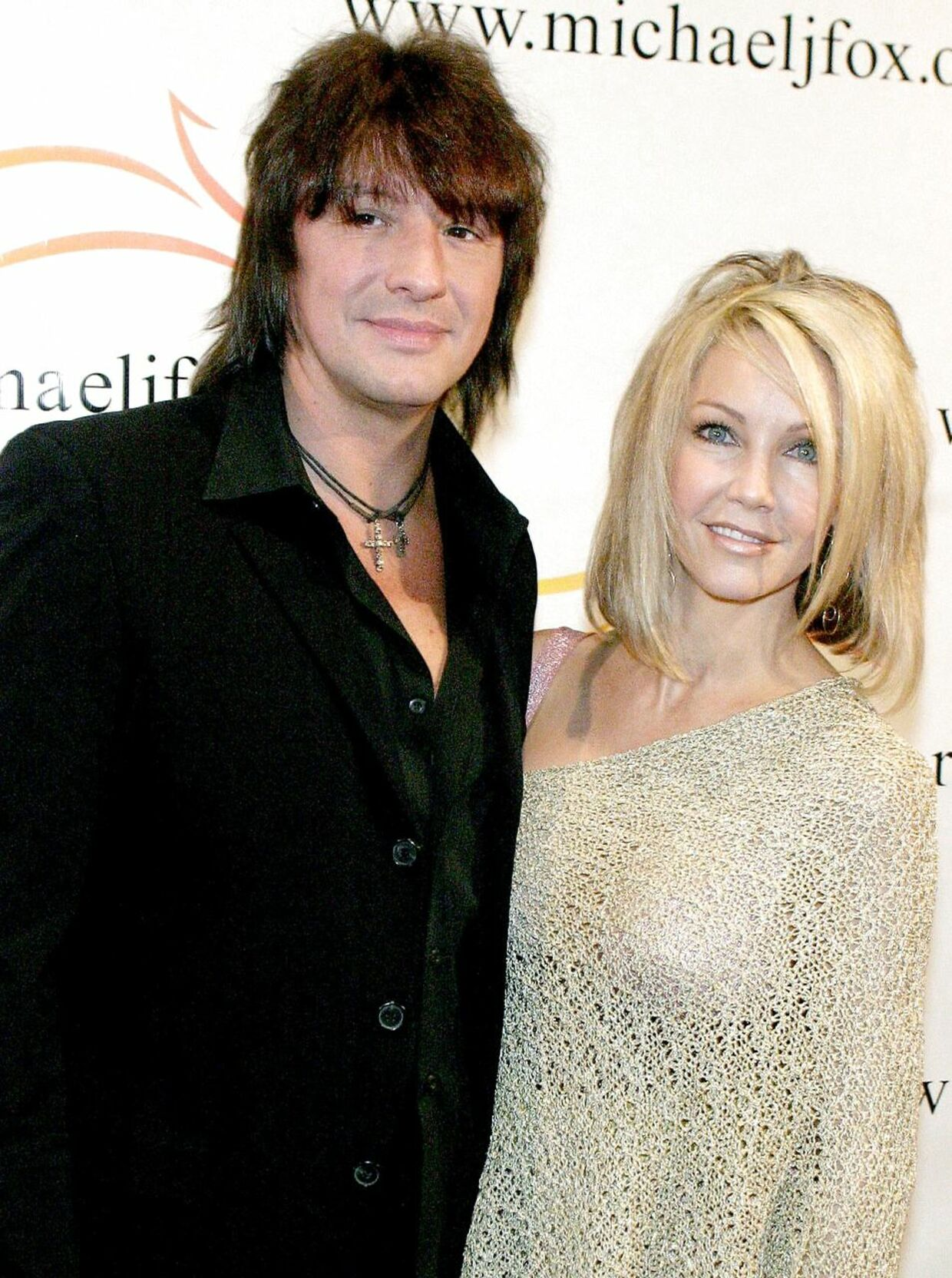 Her ses Heather Locklear, mens hun var gift med Richie Sambora.