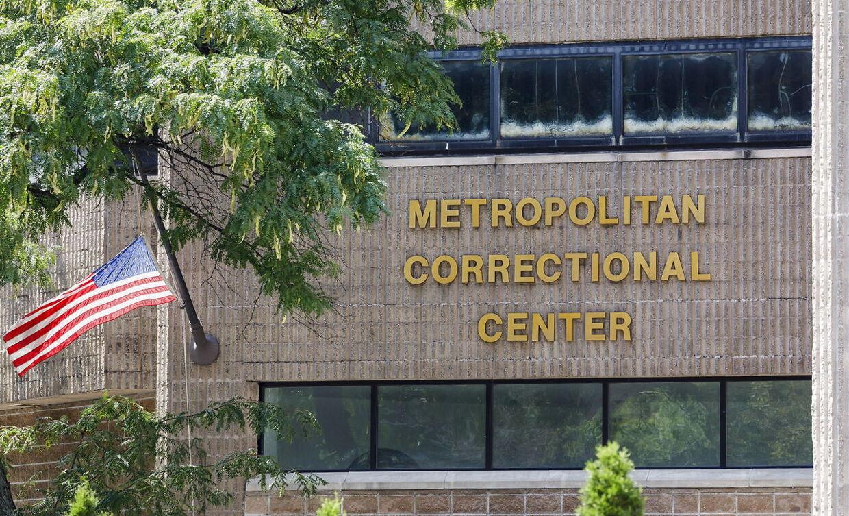 Metropolitan Correctional Center i New York, hvor Jeffrey Epstein sad varetægtsfængslet. (Foto: Justin Lane/EPA)