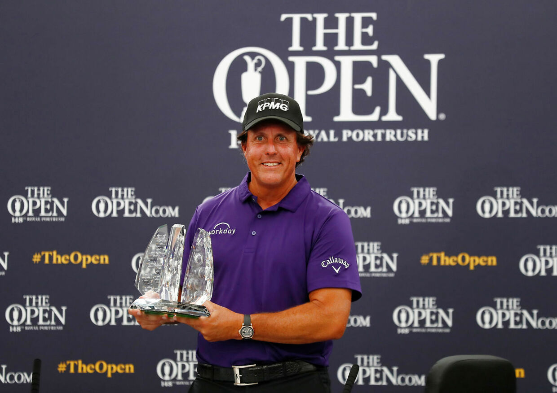 Phil MIckelson har vundet fem Majors i sin karriere: Tre gange Masters, en gang The Open og en gang PGA Championship. Han mangler kun U.S. Open for at have vundet alle fire, og her er han seks gange blevet nummer to.