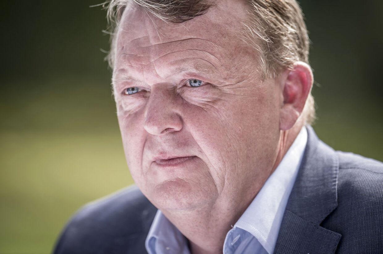 Lars Løkke Rasmussen under et pressemøde i forbindelse med Venstres sommergruppemøde på Kragerup Gods ved Ruds Vedby, fredag den 9. august 2019. . (Foto: Mads Claus Rasmussen/Ritzau Scanpix)