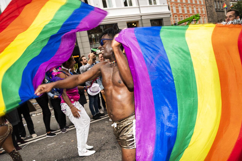 Copenhagen Pride-parade danser igennem byen fra Frederiksberg Rådhusplads til Rådhuspladsen i København, lørdag den 17. august 2019.