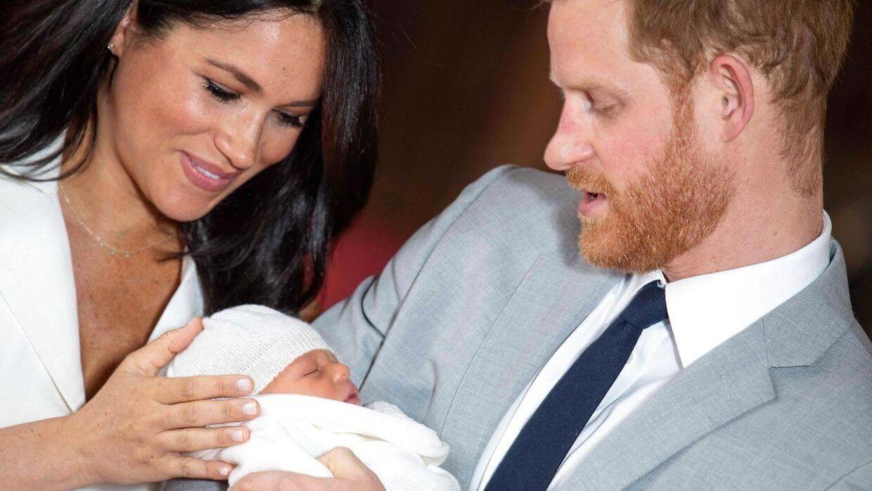 Harry og Meghan med deres søn, Archie Harrison Mountbatten-Windsor.