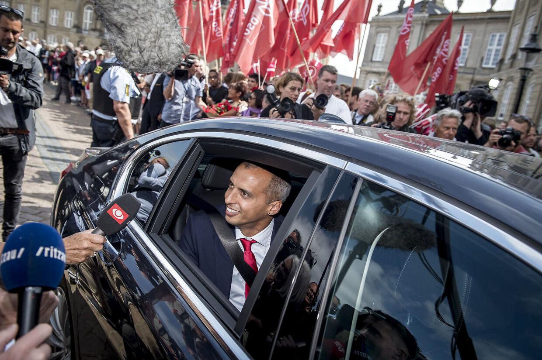 Mattias Tesfaye, da han blev udnævnt til minister.