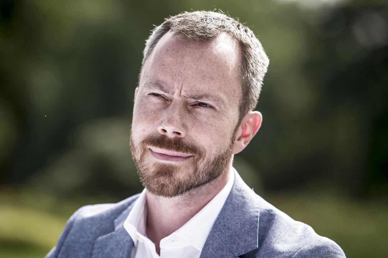 Jakob Ellemann under Venstres pressemøde i forbindelse med sommergruppemødet på Kragerup Gods ved Ruds Vedby, fredag den 9. august 2019.