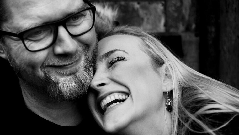 Lasse Rimmer med kæresten, Line Hoffmeyer. (Foto: Scanpix)