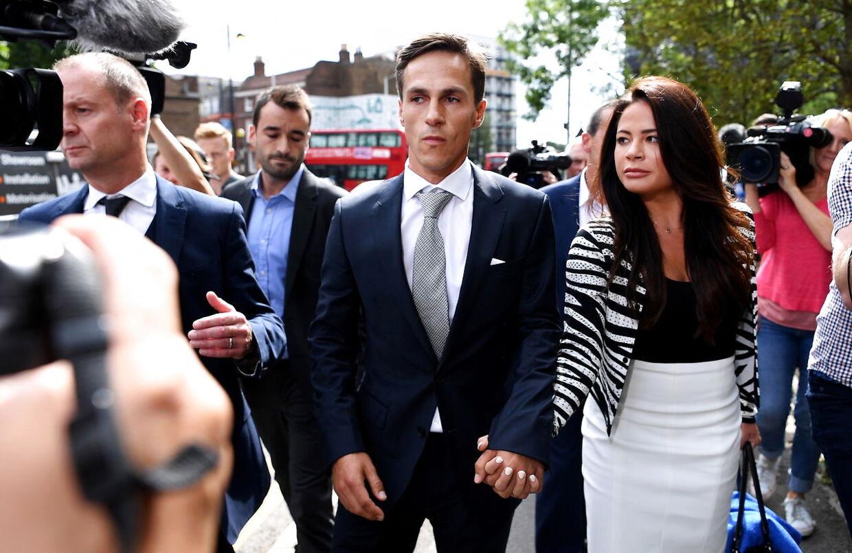 Thorbjørn Olesen ved Uxbridge Magistrates' Court, onsdag den 21. august 2019.