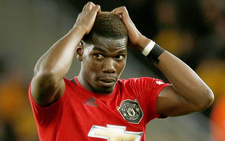 Manchester Uniteds Paul Pogba efter han brændte sit straffespark i kampen mod Wolverhampton
