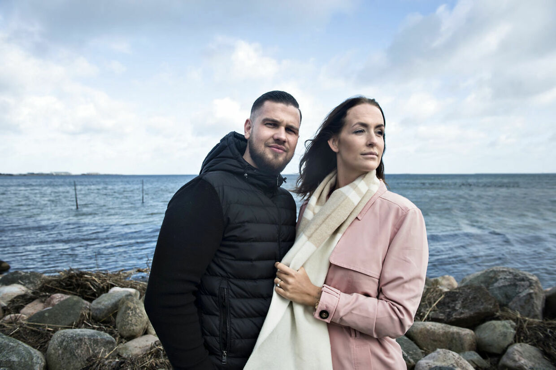 Cengiz og Stephanie er både blevet gift og har fået deres datter Alba i løbet af de 16. sæsoner, der har været af 'Familien fra Bryggen'. (Foto: Ida Guldbæk Arentsen/Scanpix 2017)